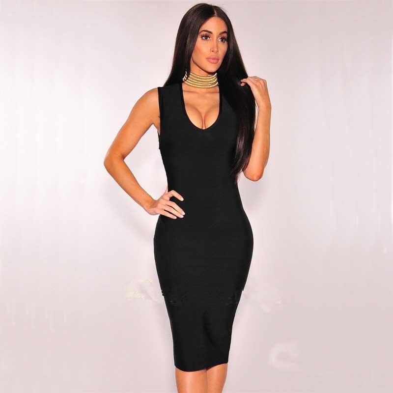 Usine en gros nouvelle robe noir et violet mode luxe Stretch serré robe de Bandage de Cocktail (H1715)