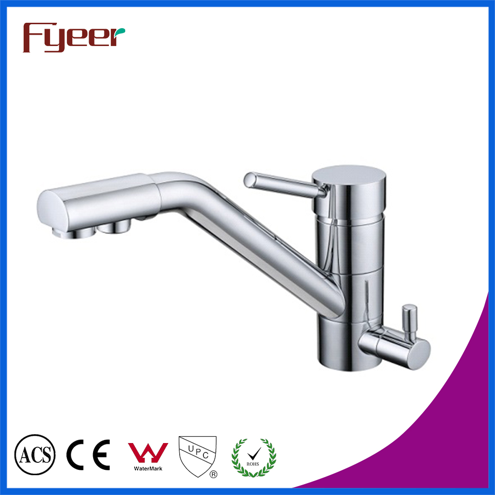 Free Shipping  Brass 3 way kitchen Sink faucets Hot and Cold Kitchen Filter Tap