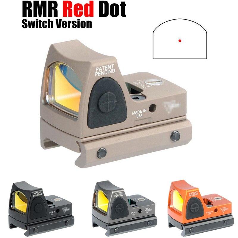 CQC Tactical Airsoft RMR Adjustable Reflex Mini Red Dot Sight 3.25 MOA Scope Hunting Rifle Pistol Glock Scope
