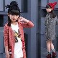Crianças Meninas Casaco de Outono 2016 Novas Crianças Chinesas de Todos Os Jogos Crianças Camisola Maré Casaco Meninas Outwear