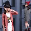 Niños Niñas Abrigo de Otoño 2016 Nuevo Chino de Los Niños Suéter de Los Niños Del Todo-Fósforo Marea Capa de Las Muchachas Outwear