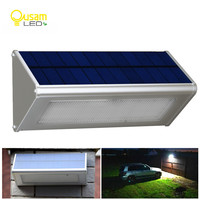Outdoor Solar Powered Lamp Security Light With Motion Sensor Aluminum Alloy Street Porch Light lampada 48 LED 800LM Waterproof