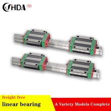 freight free 2Pcs Linear guide  + 4Pcs The flange linear sliders  HGW20CA or HGW20HA standard CNC parts цена