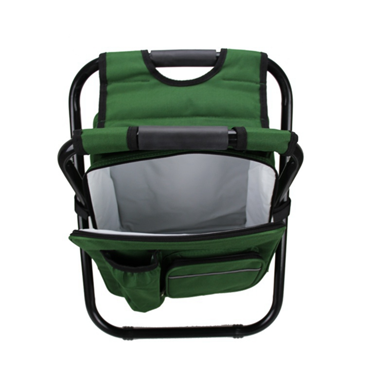 Summer Folding ice seat ice and backpack cooler with Multi-function - stool foldable insulated shoulder padded packSummer Folding ice seat ice and backpack cooler with Multi-function - stool foldable insulated shoulder padded pack