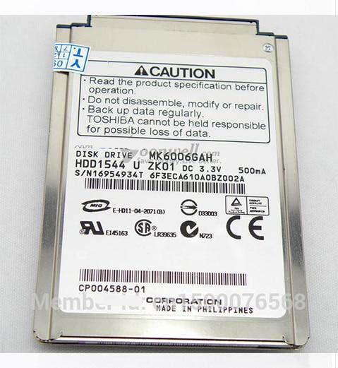 "NUEVO 1.8 ""CF / PATA (MK6006GAH) Disco duro de 60GB 4200RPM reemplazar MK8007GAH MK4006GAH MK4004GAH para computadora portátil IPOD, envío gratis"