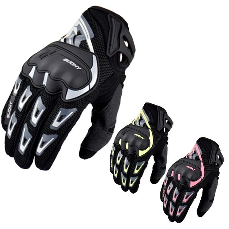 Ударопрочные летние дышащие сетчатые мотоциклетные гоночные перчатки Suomy, перчатки для сенсорных экранов для езды по бездорожью, мотоцикле...