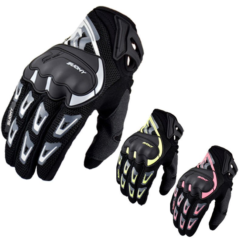Suomy Shockproof Summer Breathable Mesh Motorcycle Racing Gloves Touch Screen Off Road Motorbike Riding Gloves Guantes Moto XXL