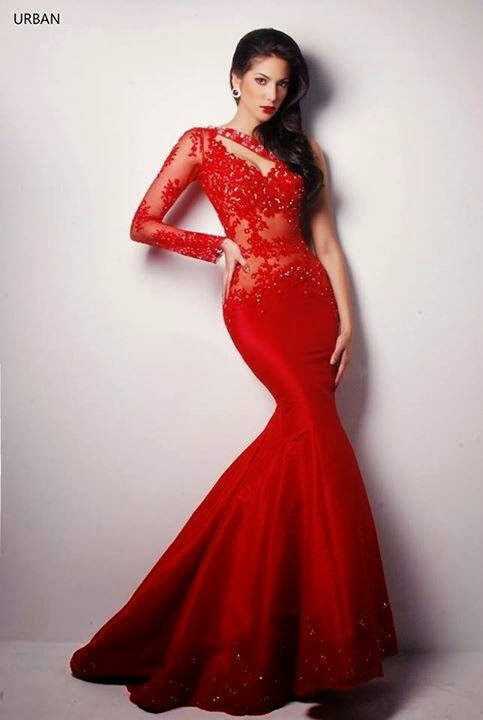 One Shoulder Long Sleeves Prom Dress See Through Appliques Beaded