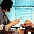 Mini bolso de moda banco de la energía banco de la energía de la batería 8800 mAh cable USB cargador para el teléfono móvil women & girl regalo
