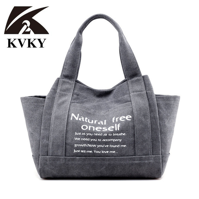 f0428ced11 ... ultra thick canvas coupon. KVKY Vintage Women Canvas Bag Brand Fashion  Casual Large Capacity Hobos Bag Ladies Shopping Tote Bag …