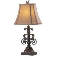Винтаж Сельский страна смолы ткань E27 Настольная лампа для Гостиная Спальня настольные освещения H 62 см 1535