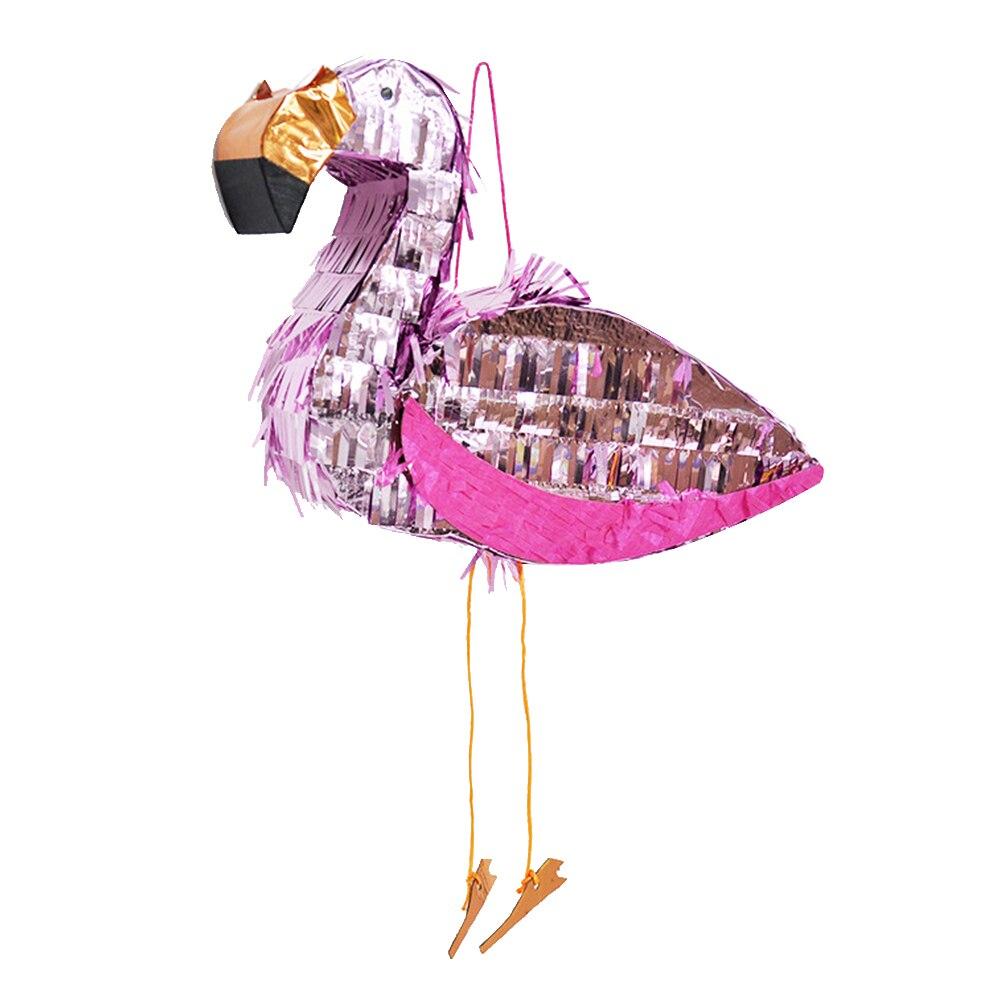 Accessoires de fête en aluminium, Pinata en aluminium flamand rose, accessoires de jeu multicolores, battement de bonbons, jouets, accessoires d'animaux pour la célébration du carnaval, 1 pièce