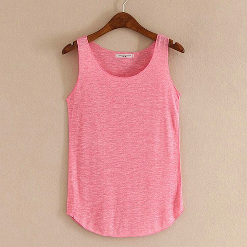 Spring summer new fitness tank tops women sleeveless round for Sleeveless shirts for ladies