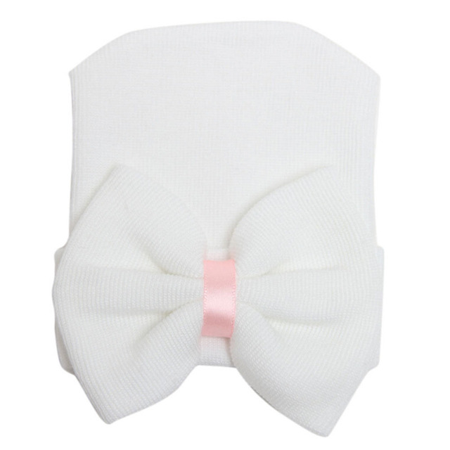 94ad08118009 Infant Girls Cute Boys Hospital Cap Toddler Soft Knit Hat ...
