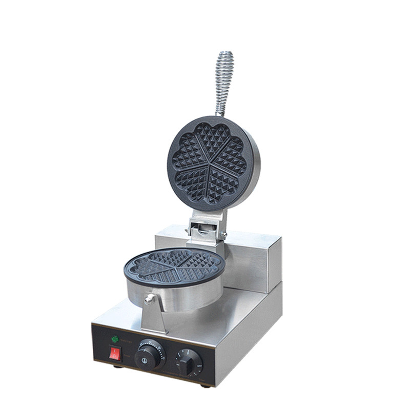 110V 220V 1300W Non-Stick Commercial Electric Waffle Maker 5pcs Single Plate Heart Shaped Waffle Machine Snack Egg Waffle Baker directly factory price commercial electric double head egg waffle maker for round waffle and rectangle waffle