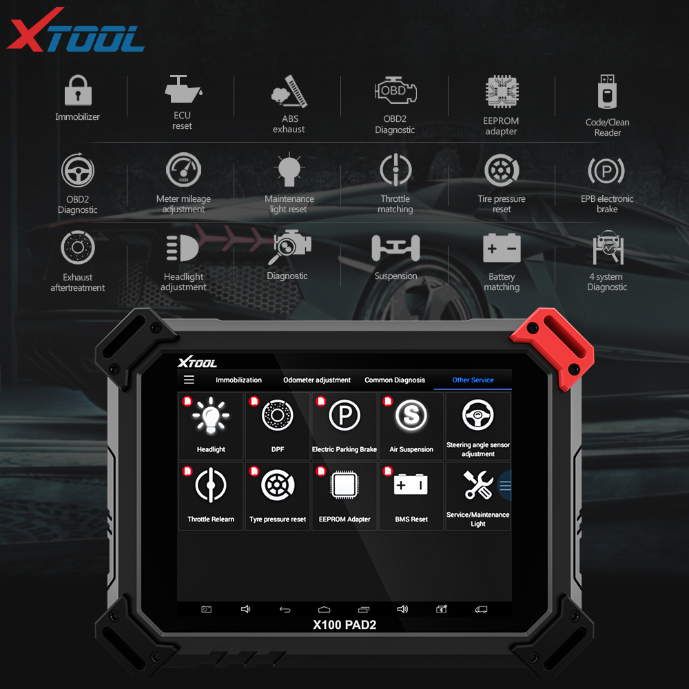X100 PAD2 OBD2 Diagnostic Tool with 4th and 5th Immo auto Key programmer All Special functions for most of the car models-in Auto Key Programmers from Automobiles & Motorcycles    2