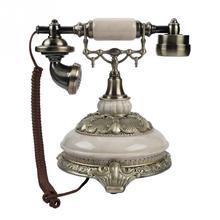 Teléfono antiguo Vintage FSK/DTMF estilo europeo, teléfono de casa en tiempo real, registros de llamadas de 38 grupos, teléfono retro Redial de un botón