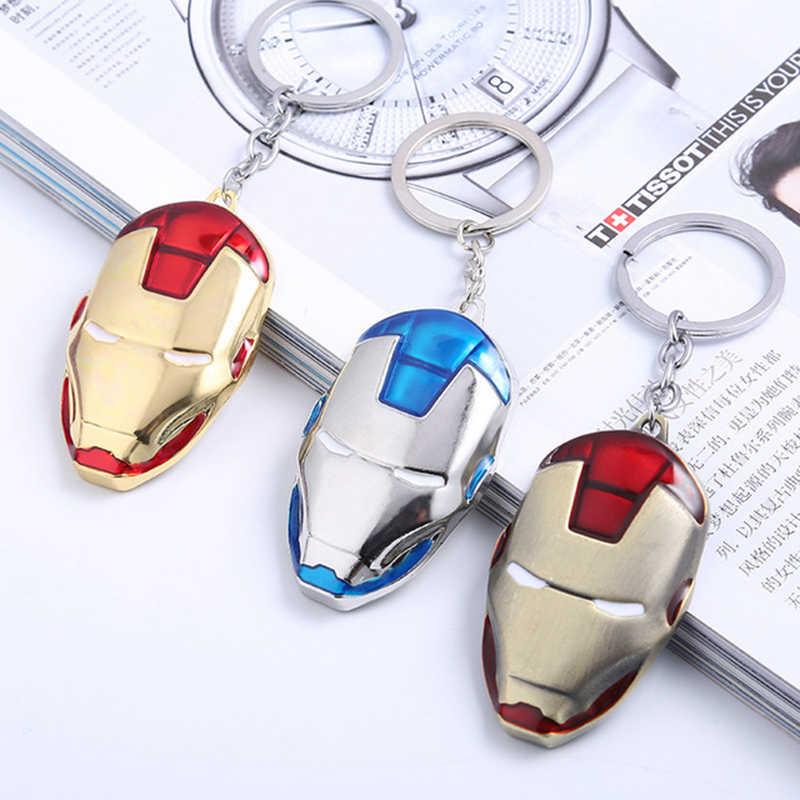 New Marvel Avengers Keychain Máscara de homem Aranha homem De Ferro Hulk Batman Capitão América Escudo do Metal Chaveiro Chave Acessórios Saco de Presentes
