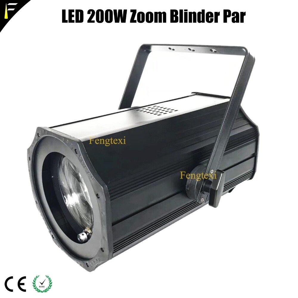 DMX512 Motorised Zoom LED COB Par 200w Theatre Spotlight LED Theater Spot 3000K/5600K Blinder Par Zoom 5 50 Degree