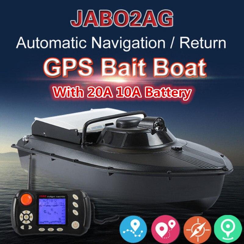 JABO 2AG 20A 2.4G GPS Navigation automatique appâts de pêche bateau nid plongeur bateau avec métal hélice garde Fisher Finder RC bateau cadeaux
