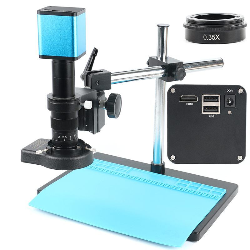 Full Set 2020 1080P Industry Autofocus SONY IMX290 Measuring C Mount Video Microscope Camera U Disk Recorder For PCB Soldering