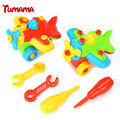 Baby Toys DIY Disassembling Small Plane Building Blocks Children Assembled Model Tool clamp With Screwdriver Educational Toys