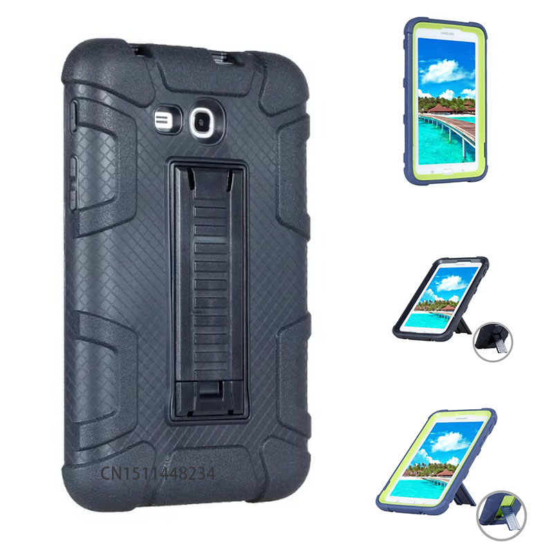 For Samsung Galaxy Tab 3 7.0 Lite T110 T113 T116 Case Hybrid Rugged Rubber Hard Plastic+Silicone High Impact Shockproof Cover аксессуар защитная пленка samsung galaxy tab 3 lite onext суперпрозрачная 40714