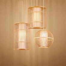Moderne Bambus LED Wohnzimmer Anhänger Lichter Hotel Lobby Restaurant Loft Lampe Beleuchtung Schlafzimmer Teehaus Hängen Lampe Leuchte