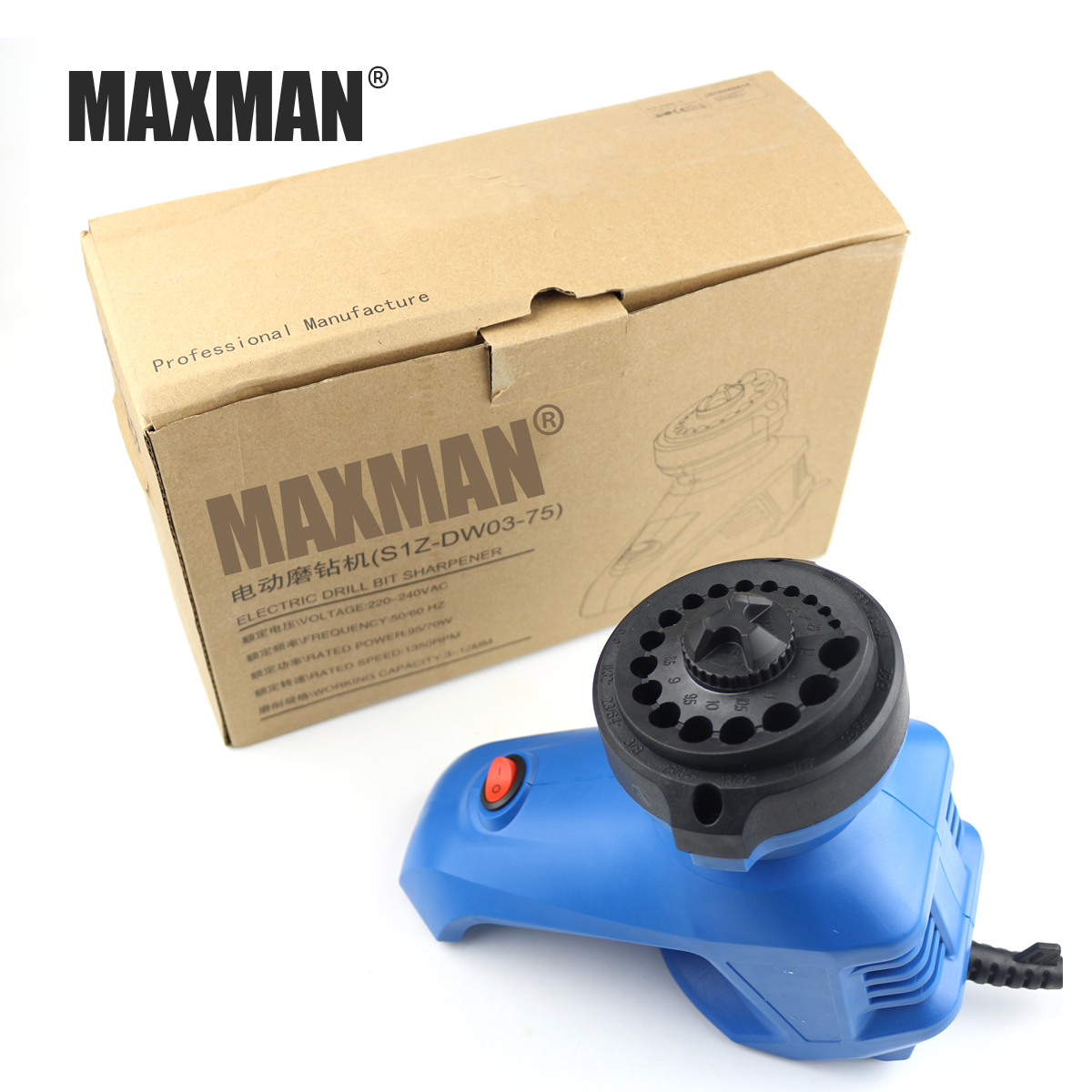 96W 1350 rpm Professional Electric Sharpener Machine Kit for Grind and Drill Bit