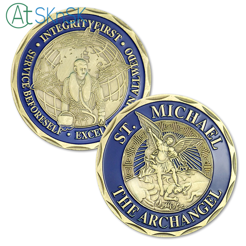1PC USAF Coin St. Michael The Archangel Air Force Spirit Challenge US Security Police Commemorative Medallion Souvenir Gift
