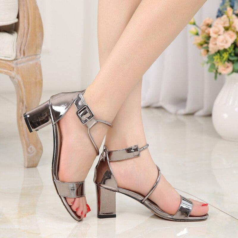 Fletiter сандалии Для женщин фиолетовый Летняя женская обувь женщина Блок каблуки свинья кожа стелька Ремешок на щиколотке Zapatos sandalias mujer 2018