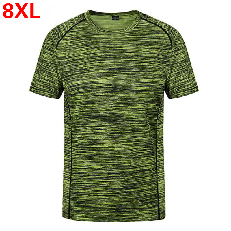 Plus size L~5XL, <font><b>6XL</b></font>, <font><b>7XL</b></font>, <font><b>8XL</b></font> t shirt men's creative simple round neck quick-drying breathable t shirt Men's summer t shirt image