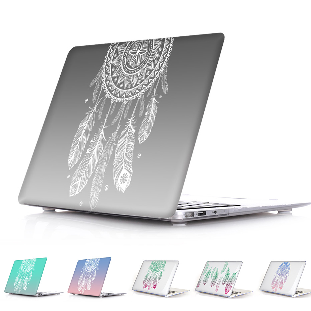 Amazing Unique Dream Catcher Feather Pattern Air 13 11 Crystal Clear Case for MacBook Pro Retina 13 15 Hard Cover Mac Book 12 transparent crystal plastic hard clear case cover skin for new macbook 12 retina free shipping