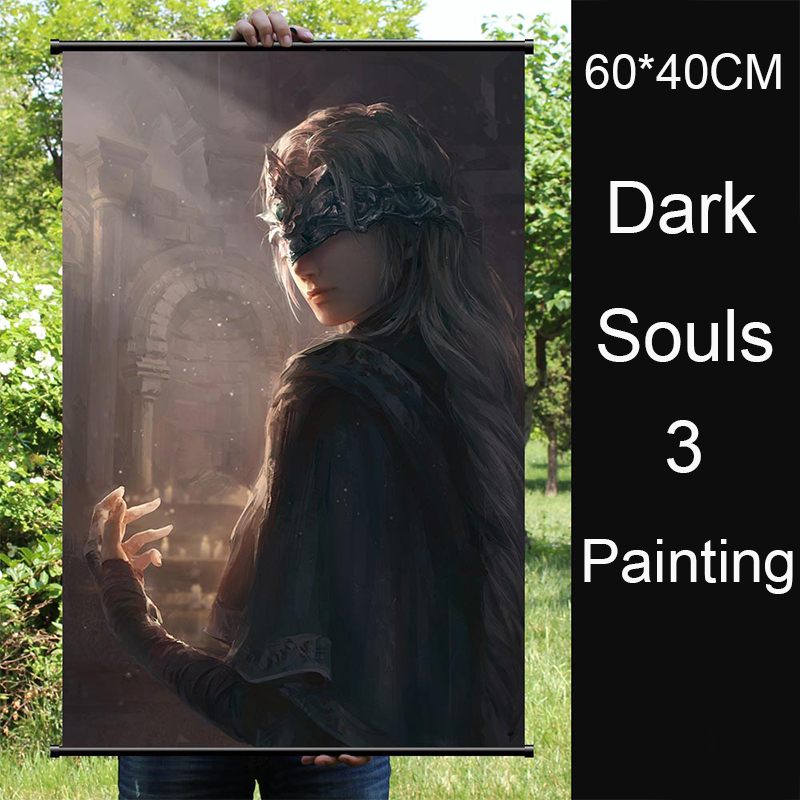 PS4 Game Anime Dark Souls 2 3 Game Poster Print Fabric Colth Silk Poster 60*40CM Hanging Decorative Paintings Model