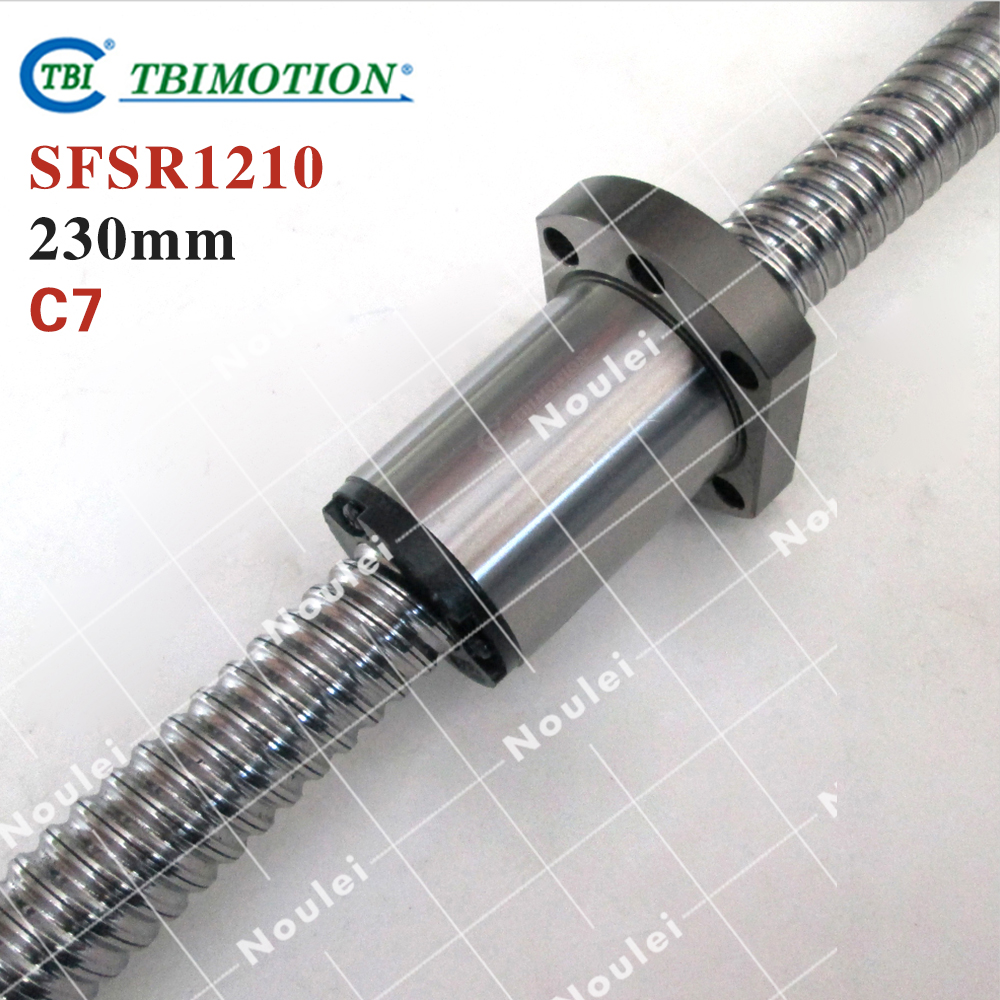 Taiwan TBI 1210 Ball screws 230mm C7 +SFS1210 nut for linear CNC Router Parts with end machined горелка tbi sb 360 blackesg 3 м