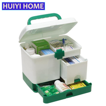 HUIYI RUMAH Kotak Penyimpanan Kotak Obat Multi-layer Darurat Medis Kit EGL125