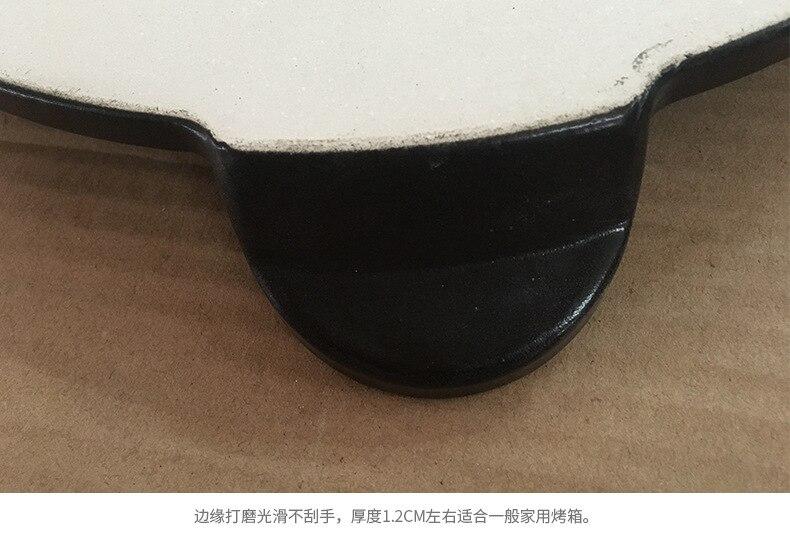 Alta qualidade preto esmalte pizza placa redonda refratário cerâmica isolamento placa de pedra pedras pizza pizza pan bakeware pizza ferramentas - 5