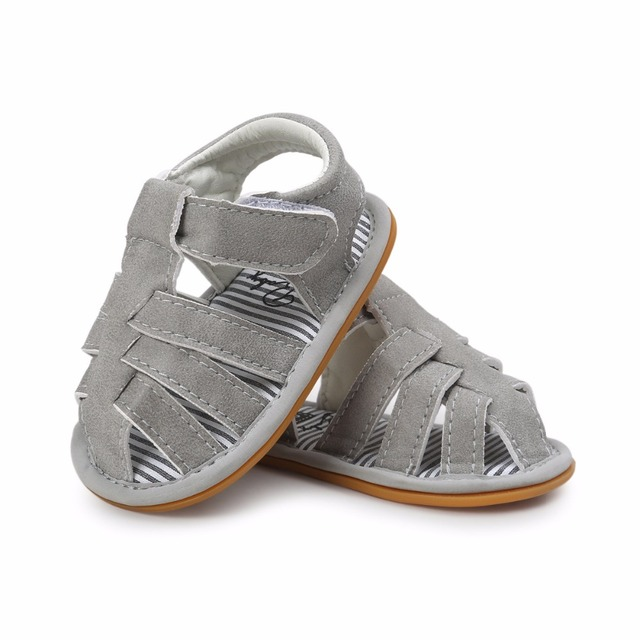 b99cd1306 2018 New Spring summer Baby Boys sandals Pu leather hard sole anti-slip infant  Child