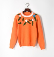 New 2017 Autumn Winter Women S Sweaters Vintage Embroidery Flowers Slim Elegant Luxury Female Basic Pullover