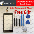DOOGEE X5 PRO Сенсорный Экран 100% Новый Оригинальный Дигитайзер Стеклянная Панель Замена ремонт аксессуар Для Мобильного Телефона + Бесплатная доставка