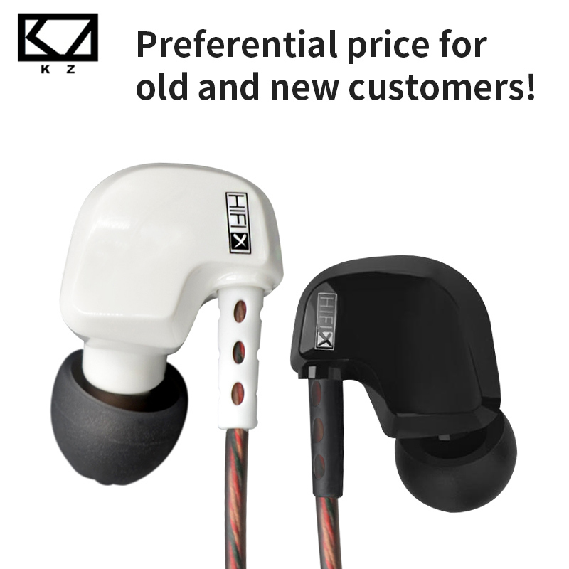 KZ HD9 Earphones HiFi Sport Earbuds Copper Earhook ear Headphones In Ear Earphone For Running With Microphone game Headset