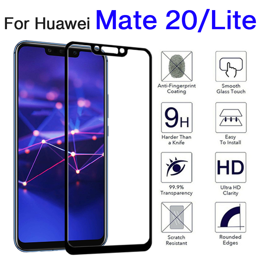 Protective Glass On For Huawei Mate 20 Lite Screen Protector Huwei Mate20 Light Armor Tempered Glas Mate20lite Huawai Mat Film