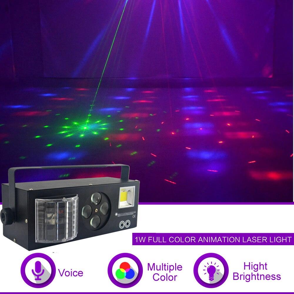 Sharelife 4 en 1 RG Laser Gobos Mix lampe stroboscopique Par faisceau RGBWY lumière LED maison concert fête DJ spectacle éclairage professionnel de scène X132
