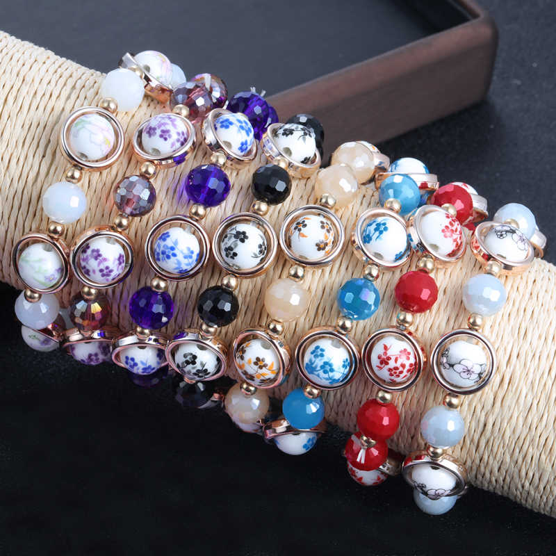 ZOSHI 6 ceramika bransoletka z koralików mężczyzn z kamienia naturalnego joga Chakra bransoletka dla kobiet mężczyzn biżuteria letnia Charm bransoletki robione ręcznie