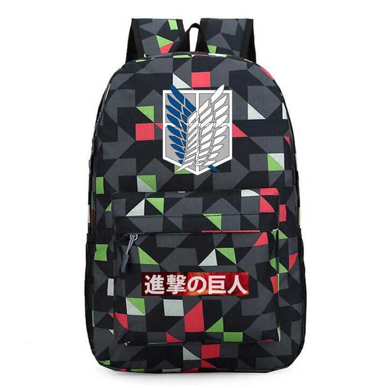 Attack on Titan Galaxy Print Women Backpack Canvas Bookbag Scout Legion School bags Pink Travel Bagpack Mochila Feminina Rugzak(China)
