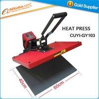 뜨거운 판매 열 프레스 기계 T 셔츠 전송 기계 40*60 센치메터