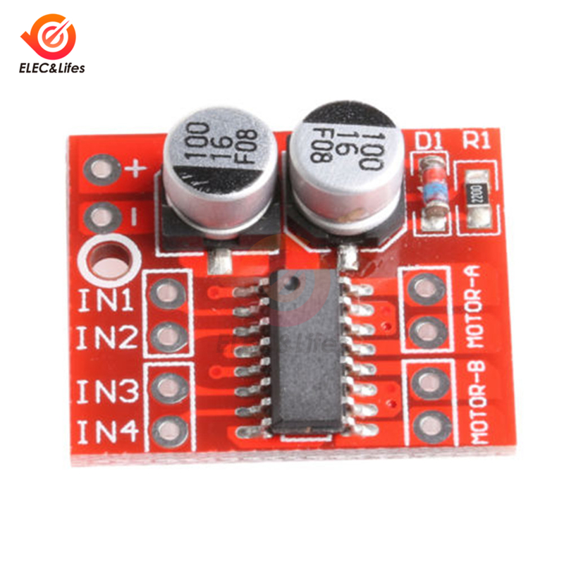 New Dual H-bridge 2.5A DC Motor Driver Module PWM Speed Regulator Board