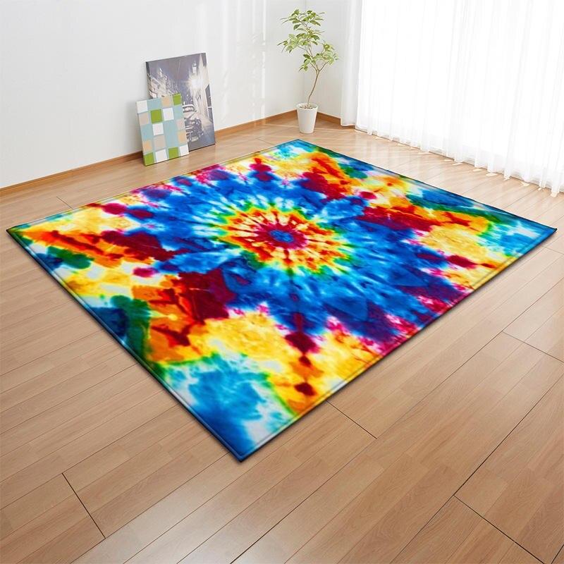 3D coloré géométrique impression tapis pour salon chambre anti-dérapant moderne grand tapis tapis de sol tapis enfants cuisine Tapete