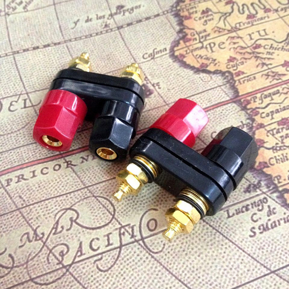 50PCS Quality Banana plugs Couple Terminals Red Black Connector Amplifier Terminal Binding Post lotus Banana Speaker Plug Jack лампа светодиодная iek 422005