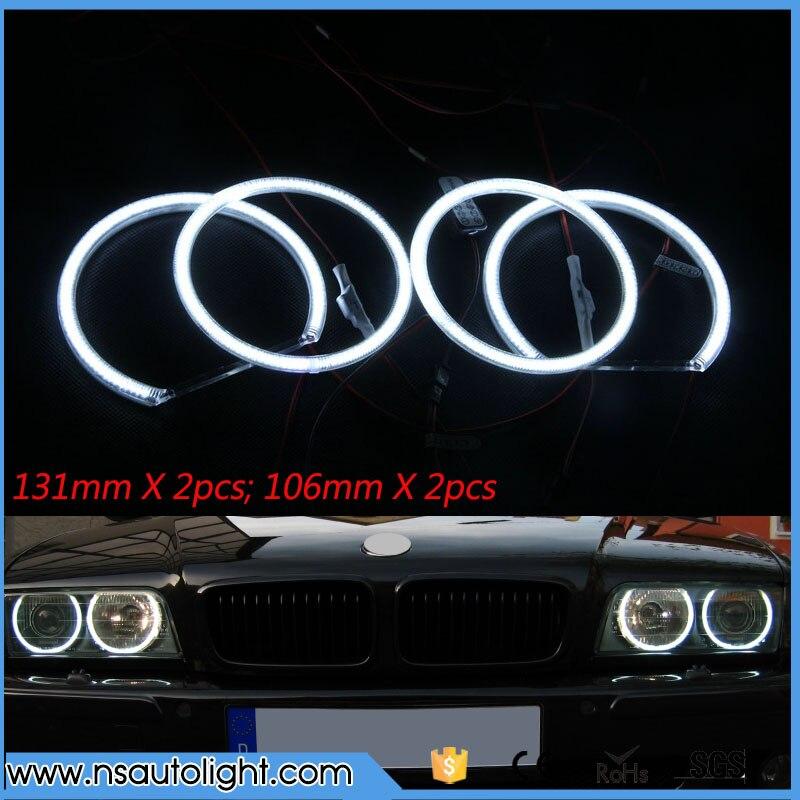 For BMW 3 Series E90 2005-2008 Halogen headlight Excellent led angel eyes Ultra bright illumination led Angel Eyes kit
